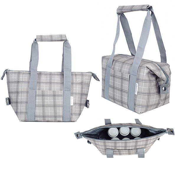 Autumnz - Chic 2-in-1 Convertible Cooler Bag (Chequered)
