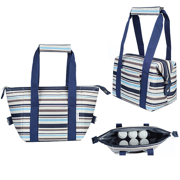 Autumnz - Chic 2-in-1 Convertible Cooler Bag (Blue Stripes)