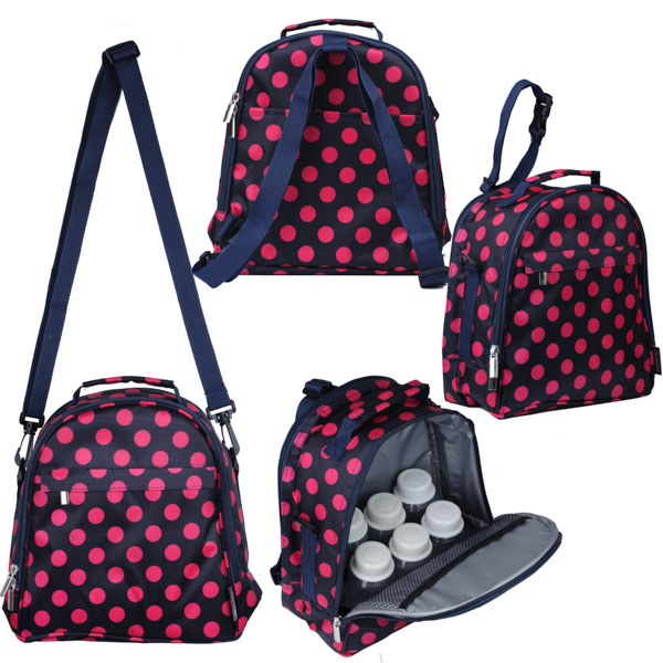 Autumnz - Classique Cooler Bag with *FREE GIFT*(Navy Rose Polka)