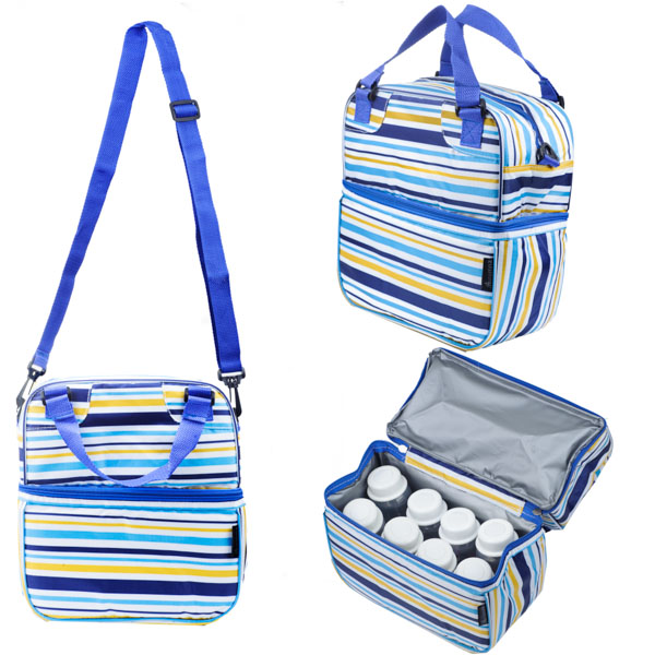 Cooler Bag POSH Beaming Blue Stripes