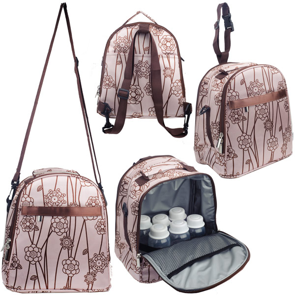 Autumnz - Classique Cooler Bag with *FREE GIFT*(Pink Brown Vine)