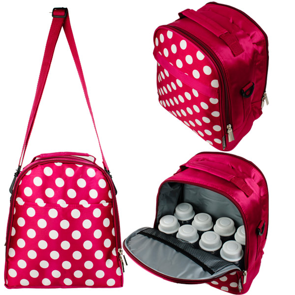 Autumnz - Classique Cooler Bag with *FREE GIFT* (Crimson Polka) 1