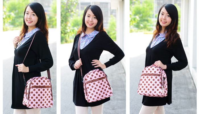 Autumnz - Classique Cooler Bag with *FREE GIFT* (Crimson Polka) 2