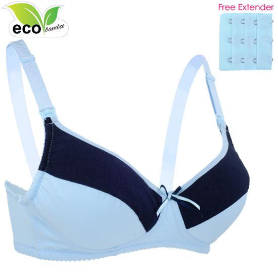 Autumnz - ELLIE Padded Maternity/Nursing Bra FREE Extender (Blue)