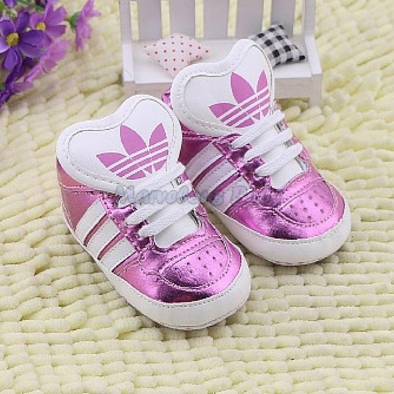Adidas Pink Stripes Supra Prewalker Shoe 1