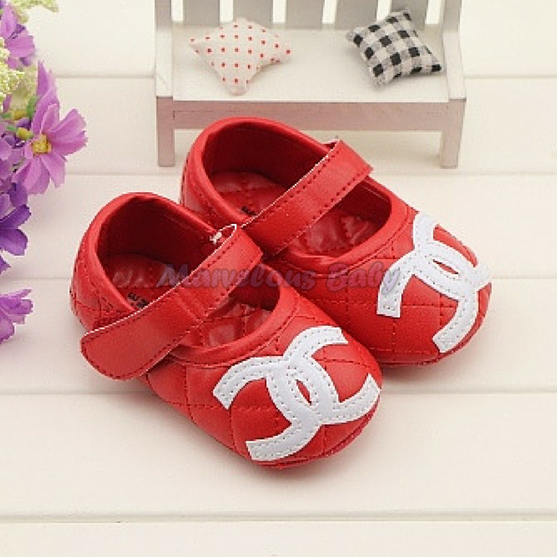 Chanel Red Prewalker Shoe 1