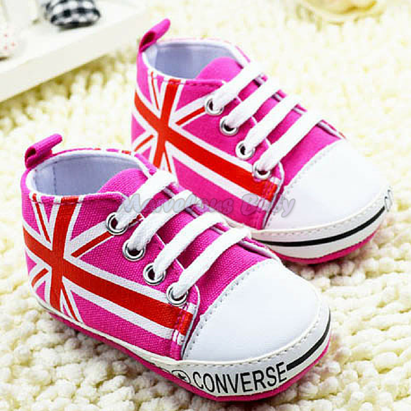 Converse Hot Pink Britain Prewalker Shoe 1