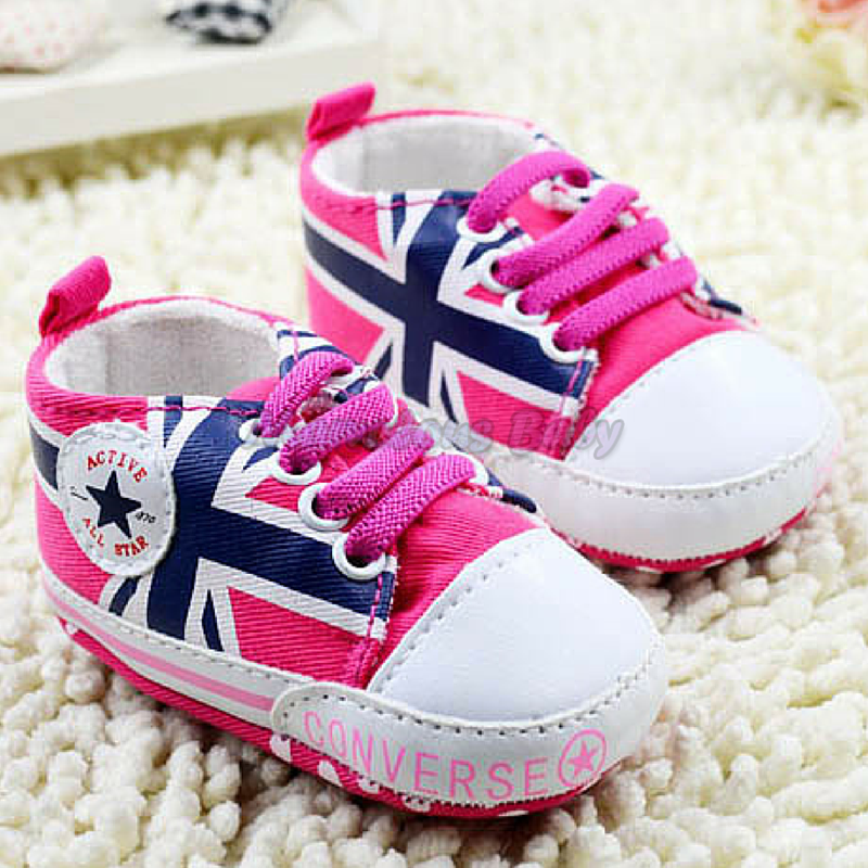 Converse PINK Great Britain Prewalker Shoe 1