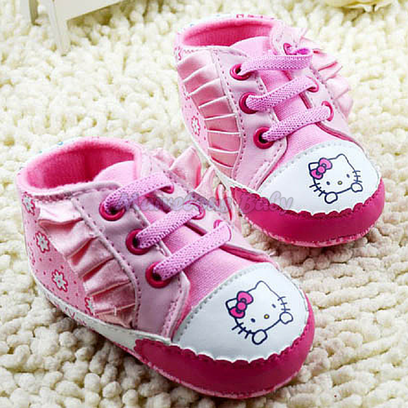 Hello Kitty Pink Ruffles Prewalker Shoe 1