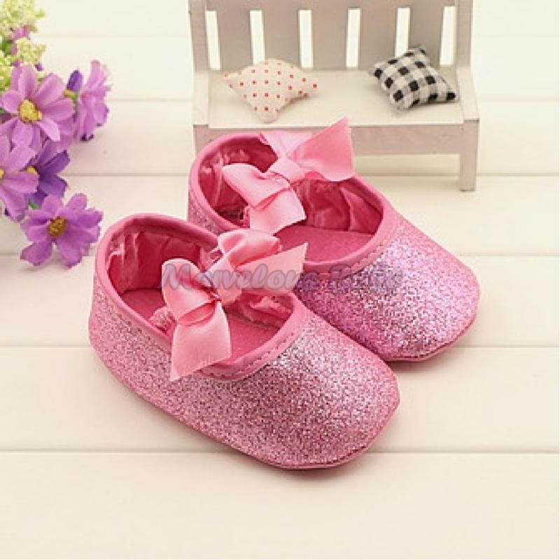 Carter's Pink Glitters Prewalker Shoe 1