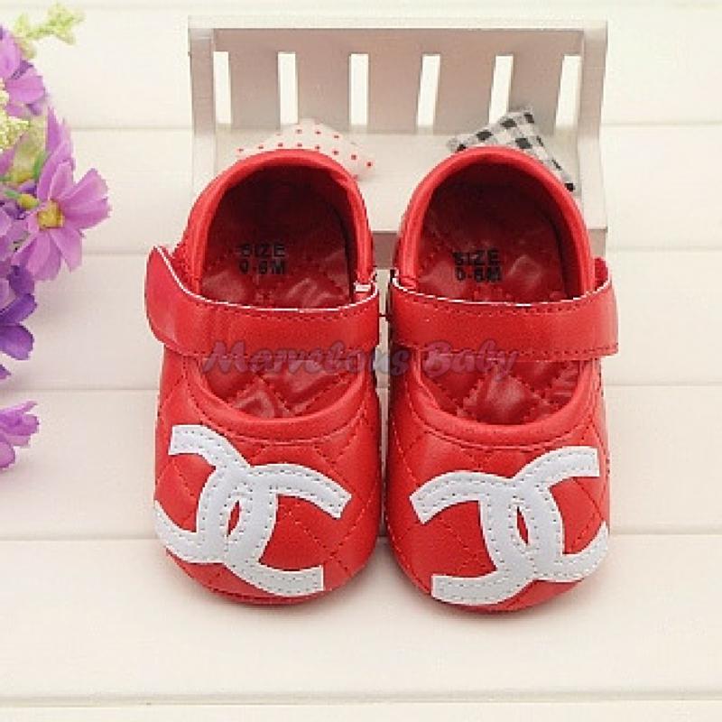 Chanel Red Prewalker Shoe 2