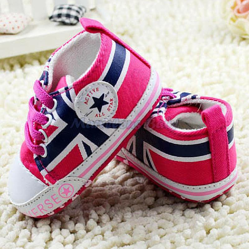 Converse PINK Great Britain Prewalker Shoe 2
