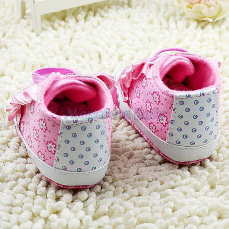 Hello Kitty Pink Ruffles Prewalker Shoe 2