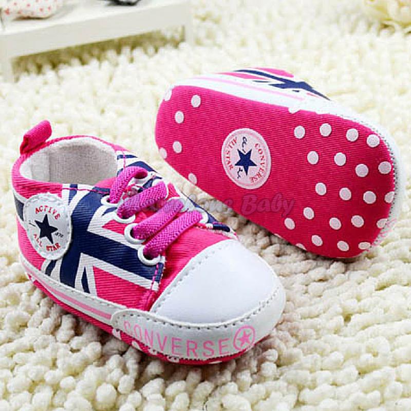 Converse PINK Great Britain Prewalker Shoe 3