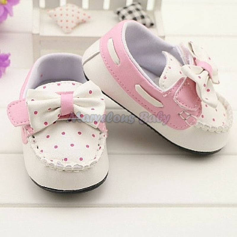 Gurlish White and Pink Polkadot Toddler Shoe 3