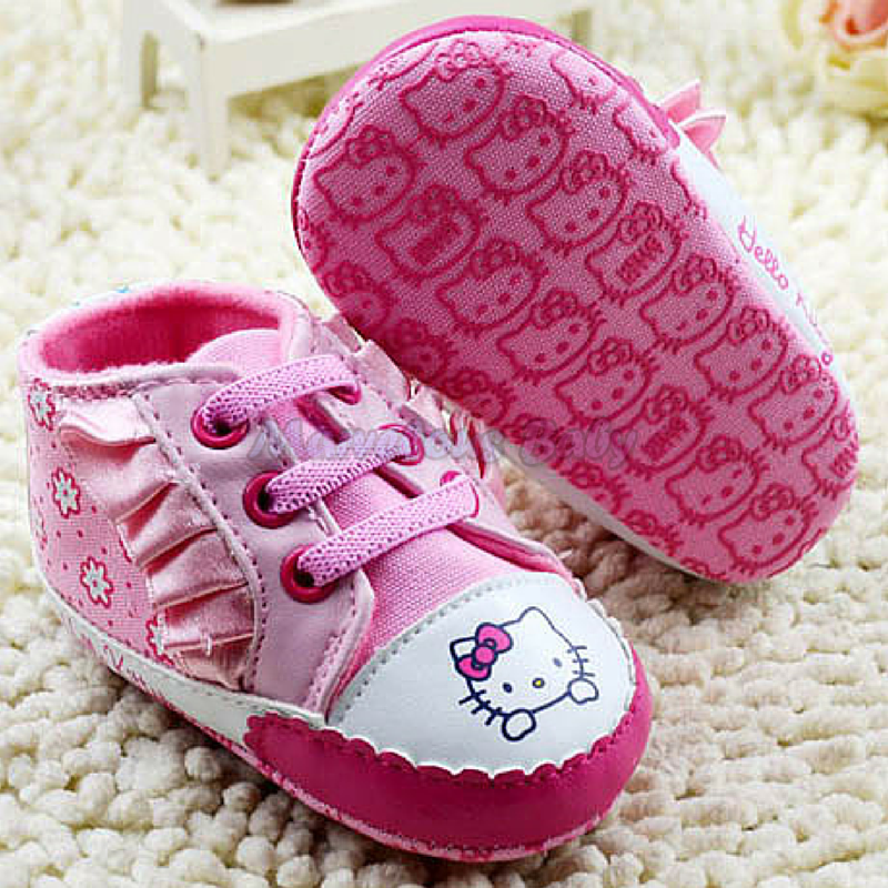 Hello Kitty Pink Ruffles Prewalker Shoe 3