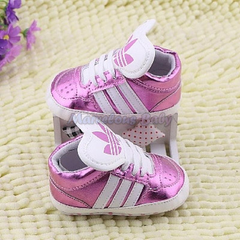 Adidas Pink Stripes Supra Prewalker Shoe 3