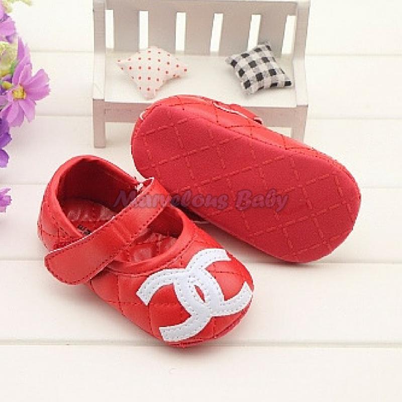 Chanel Red Prewalker Shoe 4