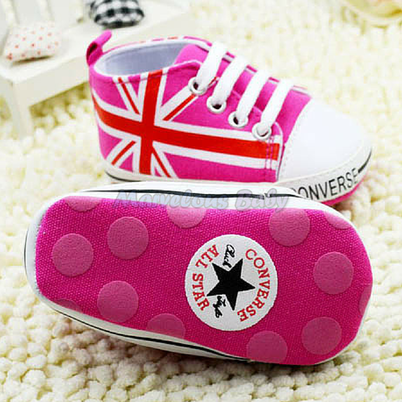 Converse Hot Pink Britain Prewalker Shoe 4