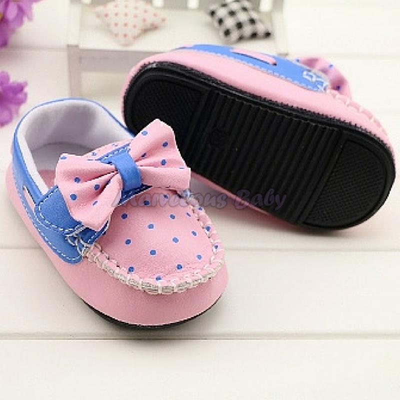 Gurlish Pink and Blue Polkadot Toddler Shoe 4