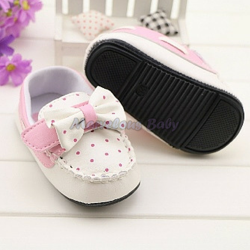 Gurlish White and Pink Polkadot Toddler Shoe 4