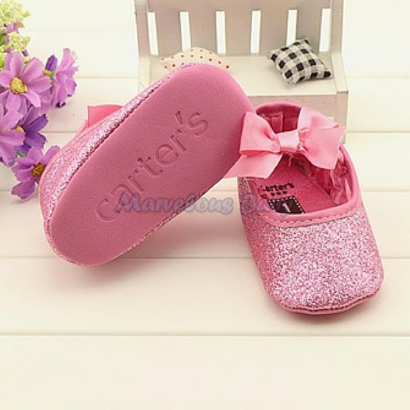 Carter's Pink Glitters Prewalker Shoe 4