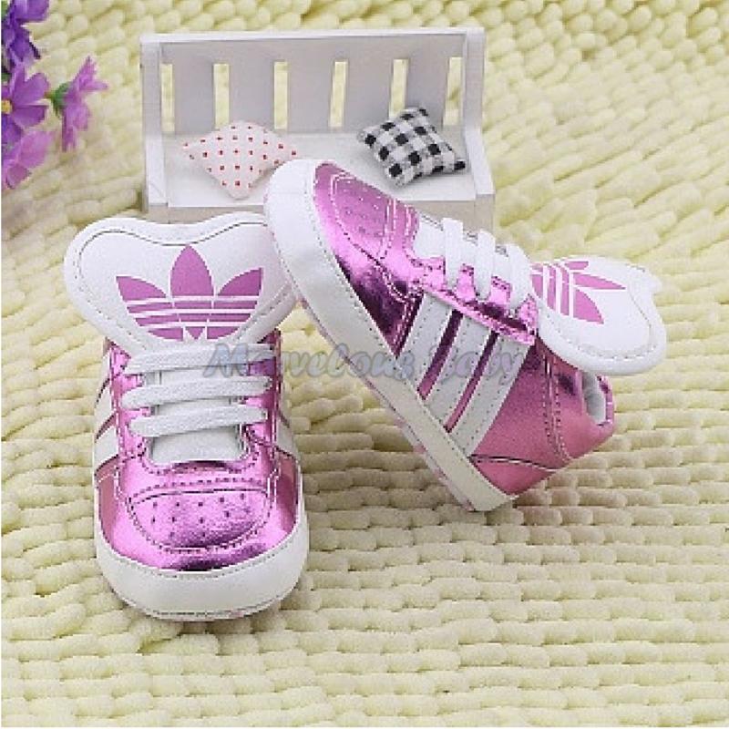 Adidas Pink Stripes Supra Prewalker Shoe 4