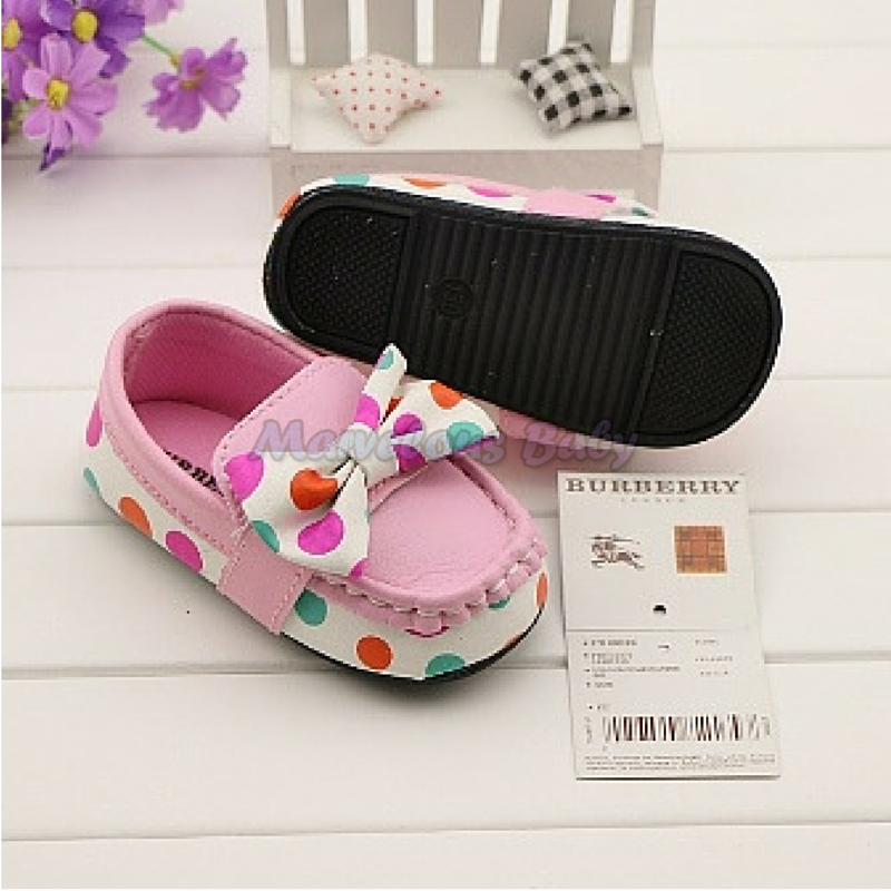 Burberry Colorful Polkadot Toddler Shoe 4