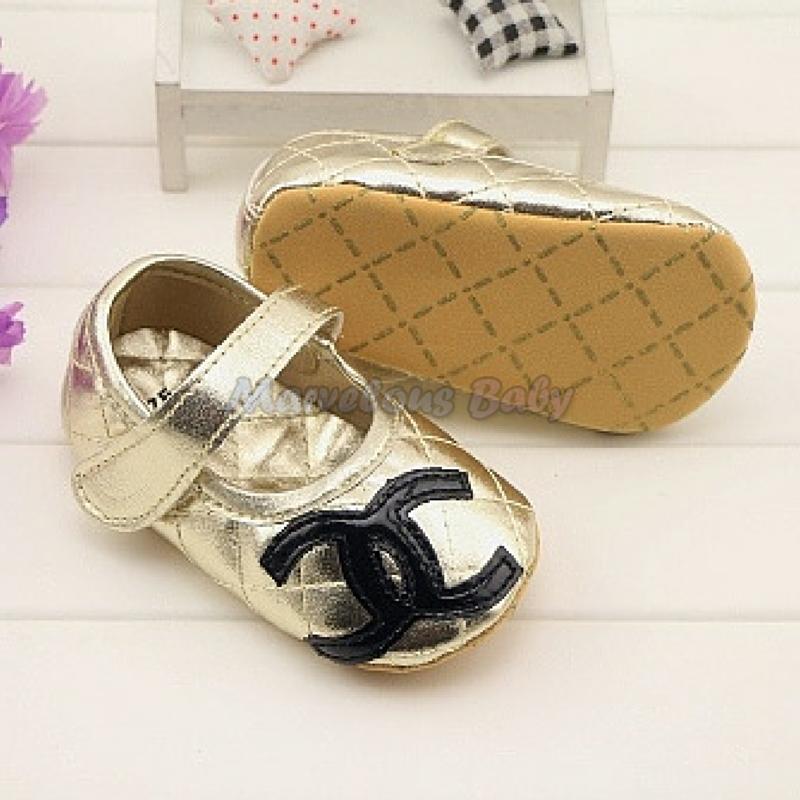Chanel GOLD Prewalker Shoe 4