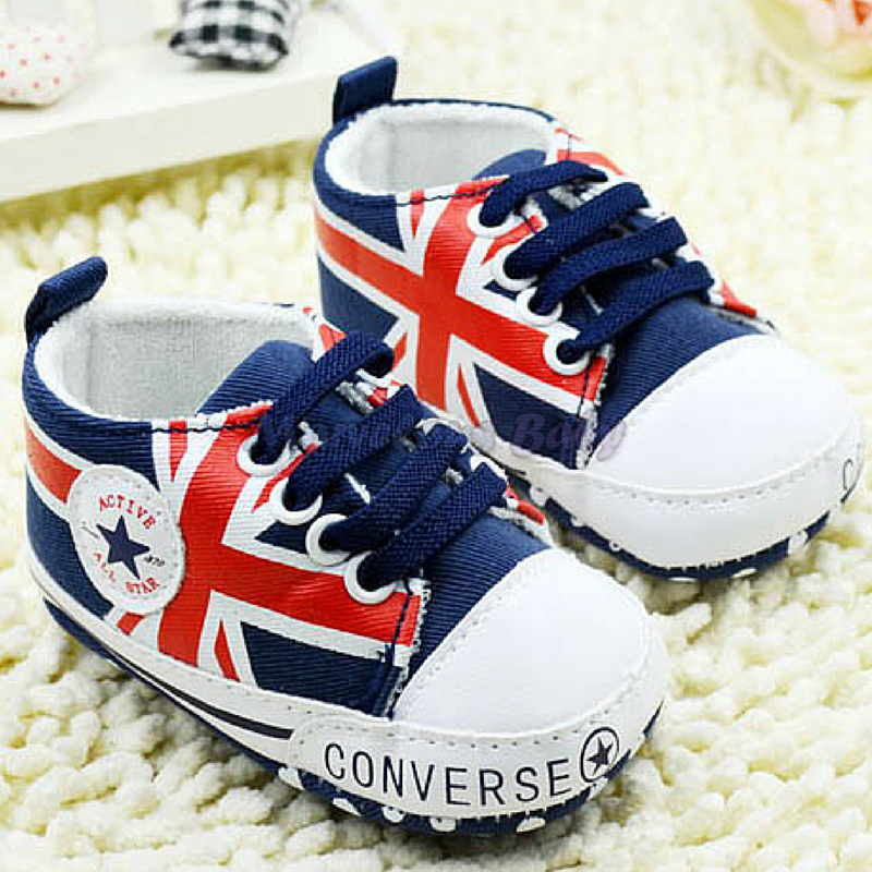 Converse BLUE Great Britain Prewalker Shoe 1