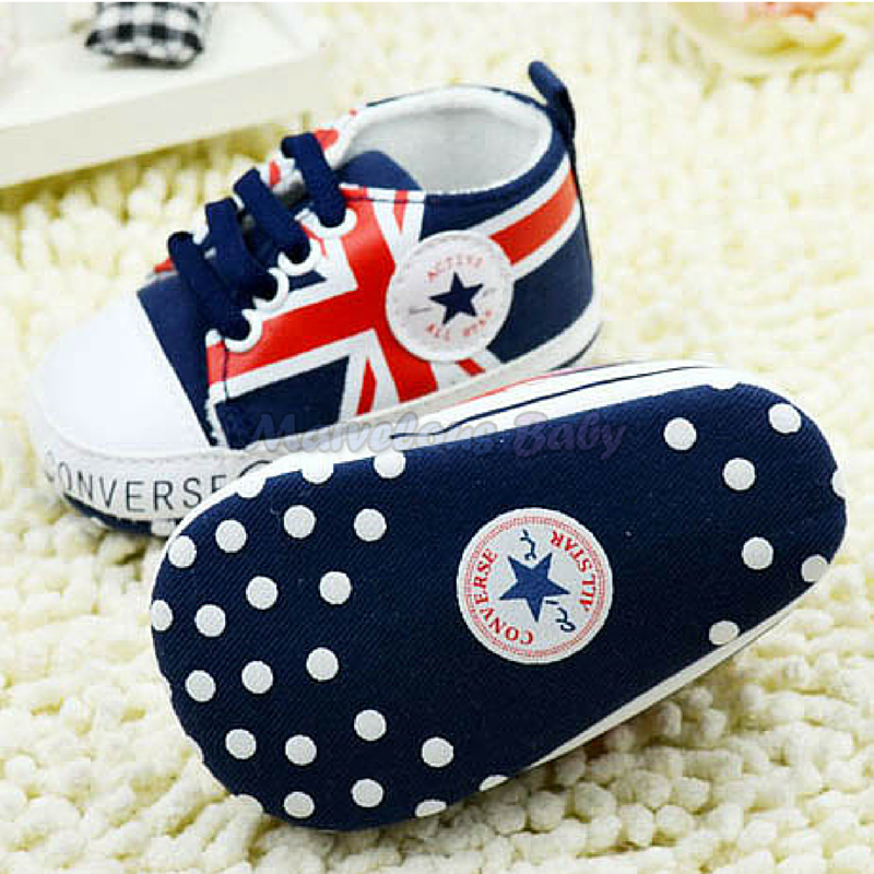 Converse BLUE Great Britain Prewalker Shoe 3