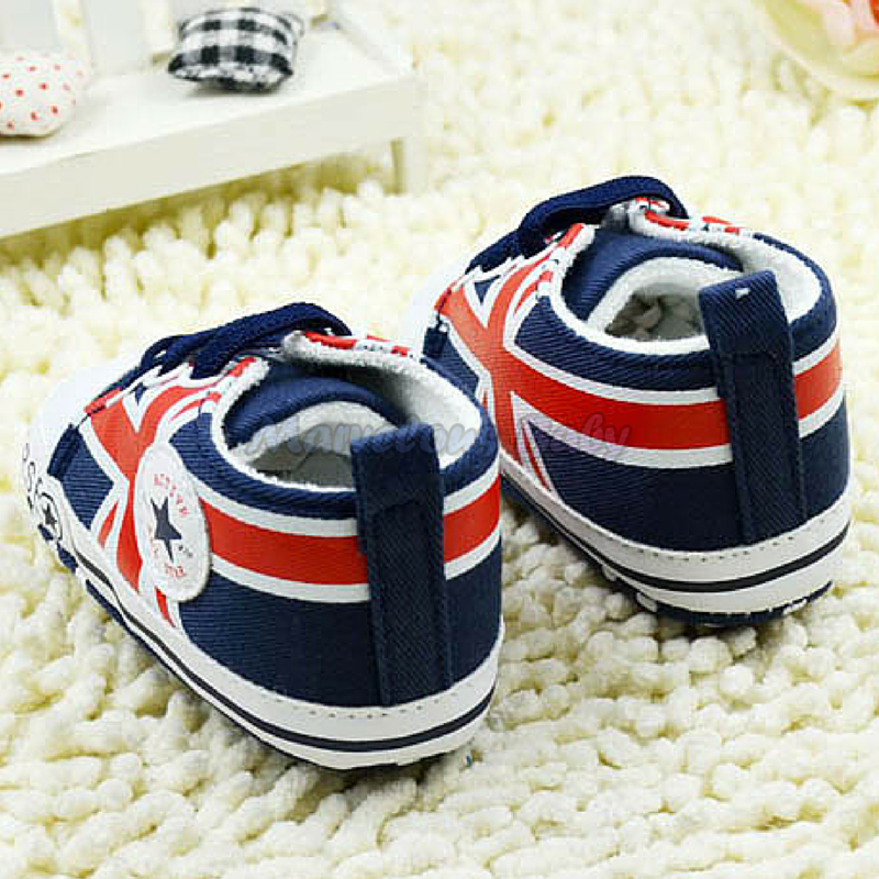 Converse BLUE Great Britain Prewalker Shoe 4