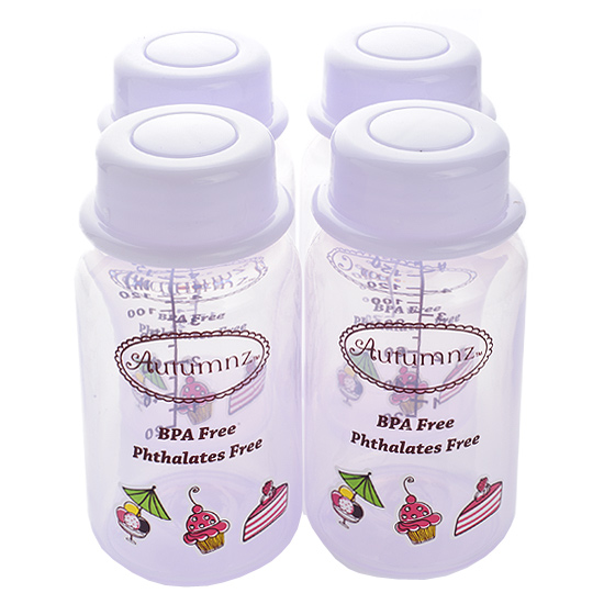Autumnz - Breastmilk Storage Bottles (4 bottles) - Lilac Sweeties