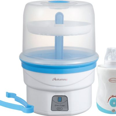 Autumnz - Electric Steam Steriliser + Home & Car Warmer Combo (Blue)