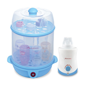 Autumnz 2-in-1 Steriliser/Steamer + Home & Car Warmer Combo (Blue)