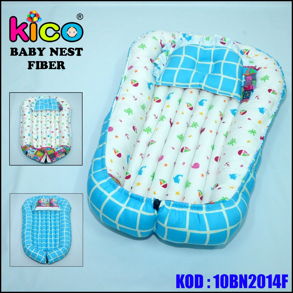 Baby Nest Soft Blue Ocean (10BN2014F)