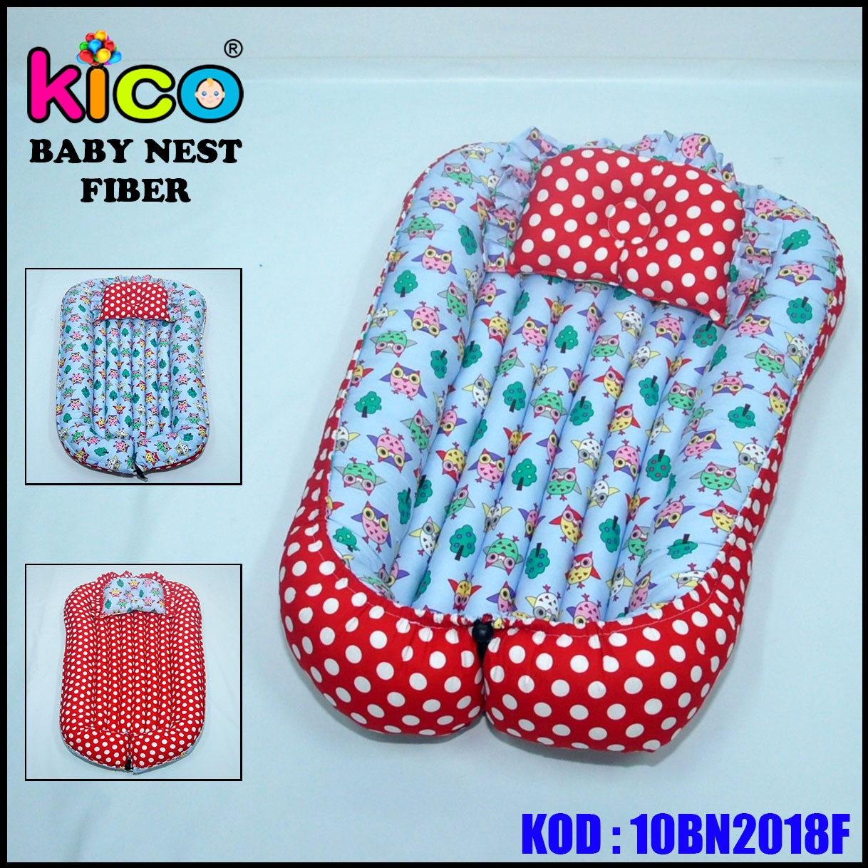 Baby Nest Owl Red (10BN2018F)