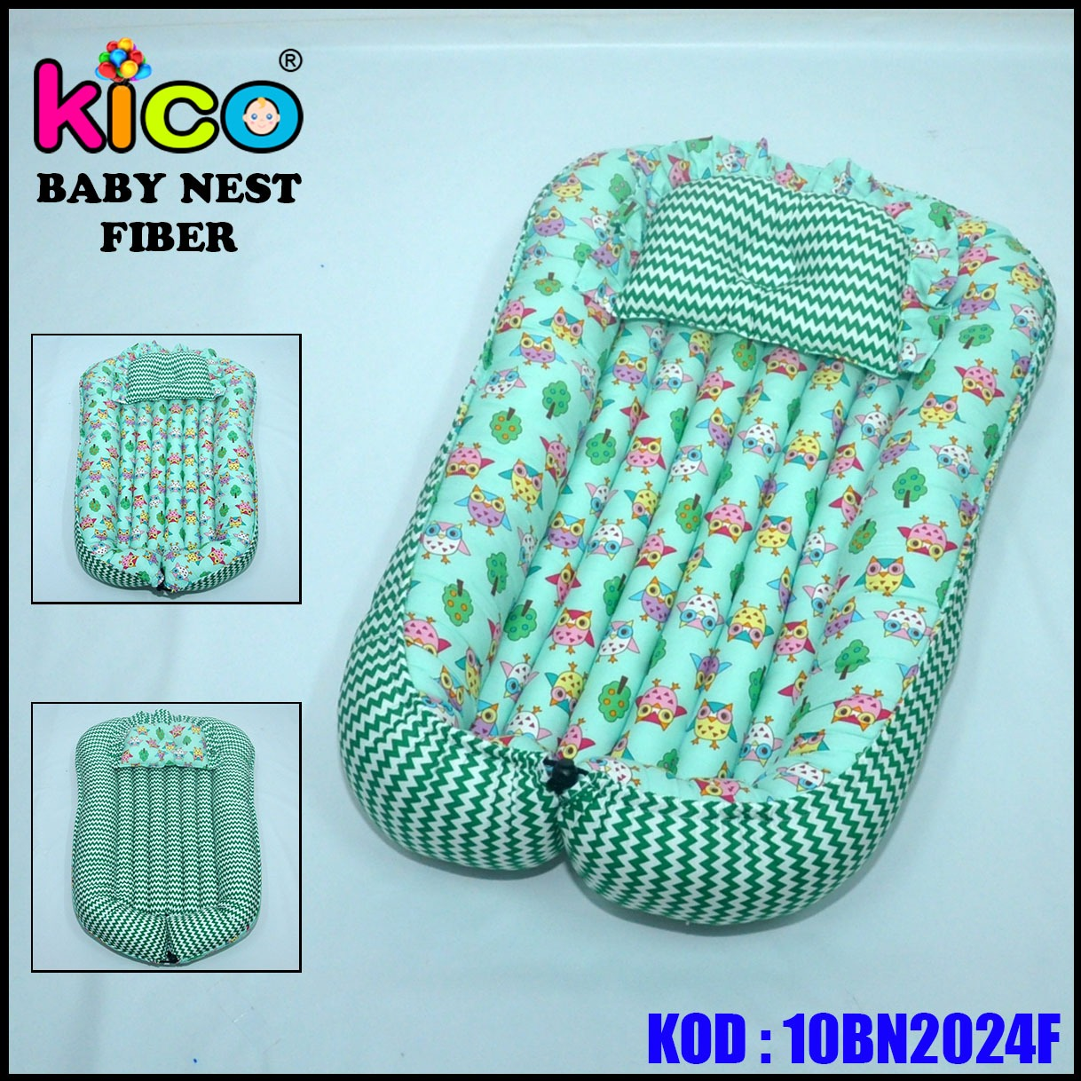 Baby Nest Owl Green (10BN2024F)