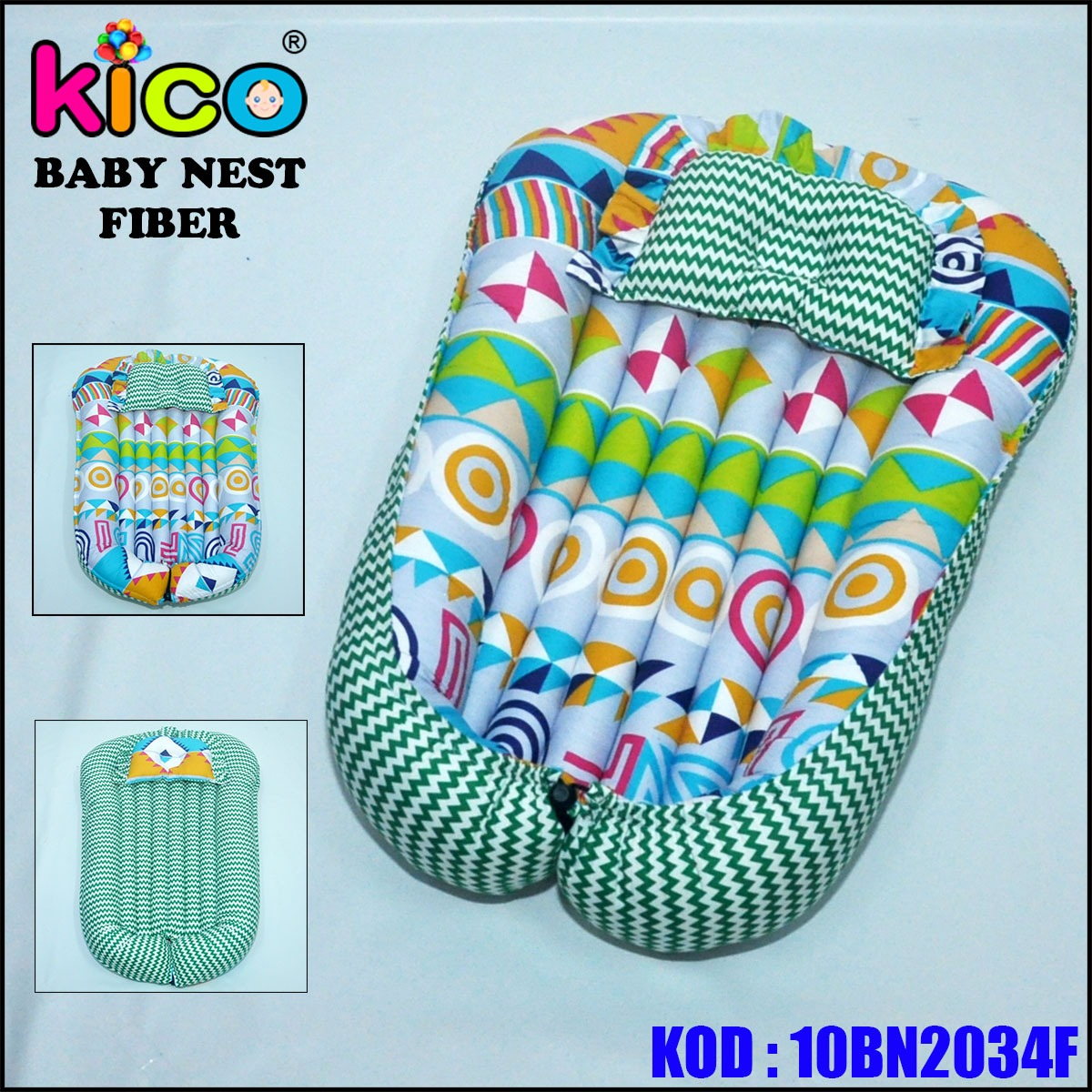 Baby Nest Green Abstract (10BN2034F)
