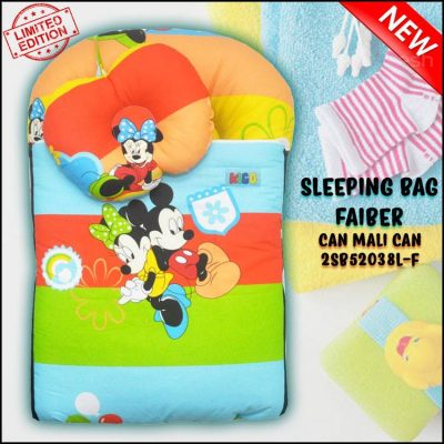 SLEEPING BAG FIBER MICKEY CAN MALI CAN KAIN COTTON BALDU SAIZ L
