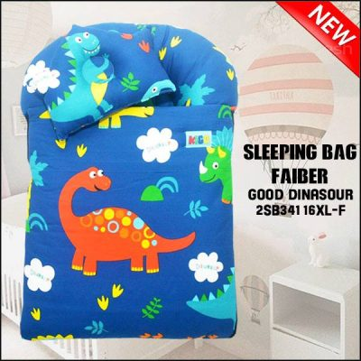 SLEEPING BAG FIBER GOOD DINASOUR KAIN COTTON ASLI SAIZ XL