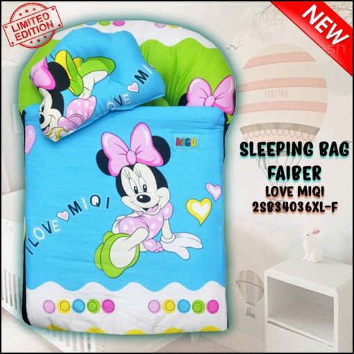 SLEEPING BAG FIBER LOVE MIQI KAIN COTTON ASLI SAIZ XL