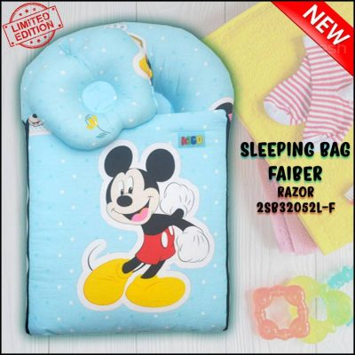 SLEEPING BAG FIBER MICKEY RAZOR KAIN COTTON ASLI SAIZ L