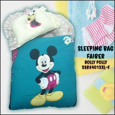 SLEEPING BAG FIBER MICKEY KAIN COTTON BALDU SAIZ BESAR XL ROLLY POLLY