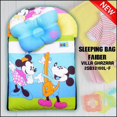SLEEPING BAG FIBER MICKEY VILLA GHAZARA KAIN COTTON ASLI SAIZ L