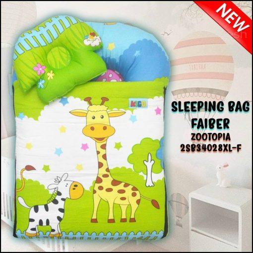 SLEEPING BAG FIBER ZOOTOPIA KAIN COTTON ASLI SAIZ XL